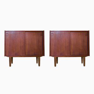 Danish Cabinets in Teak by N.P. Nielsen for Sejling Skabe, 1960s, Set of 2