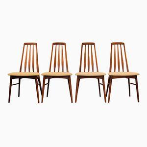 Modell Eva Esszimmerstühle aus Teak von Niels Koefoed, 1960er, 4er Set