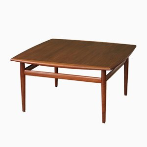 Teak Wood Coffee Table by Grete Jalk, 1960s