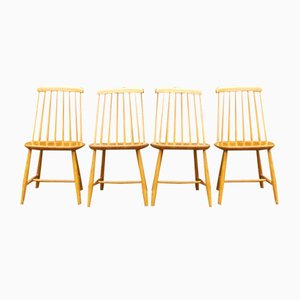 Mid-Century Swedish Dining Chairs from Nesto, Set of 4