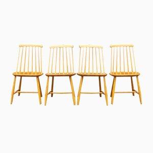 Schwedische Mid-Century Esszimmerstühle von Nesto, 4er Set