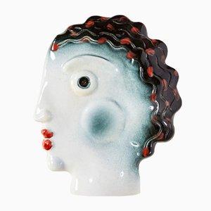 Lámpara de pared de porcelana de Heide Warlamis para Vienna Collection, años 80