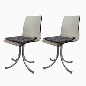 Chaises en Plexiglas, 1970s, Set de 2