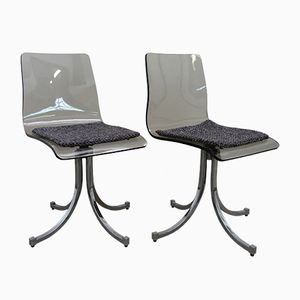 Plexiglas Chairs, 1970s, Set of 2