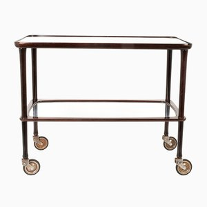 Mid-Century Italian Rosewood Bar Cart by Ico Parisi for A. De Baggis, 1950s