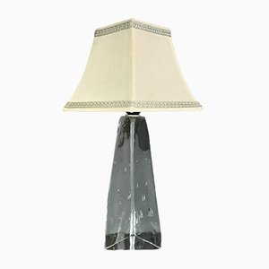 Vintage German Glass Table Lamp