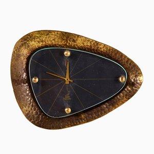 Reloj de pared de bronce de Jaz, años 80