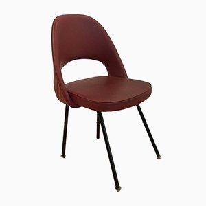Sedia da conferenza nr. 71 rossa di Eero Saarinen per Knoll, anni '50
