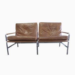 Modell FK 6720 2-Sitzer Sofa von Preben Fabricius & Jørgen Kastholm für Kill International, 1967