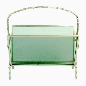 French Faux Bamboo Magazine Rack from Maison Baguès, 1960s