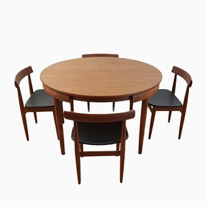 Vintage Round Table and Chairs by Hans Olsen for Frem Rölje, 1960s