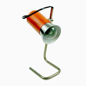 Deutsche Orange Spot Tischlampe aus Chrom, 1960er