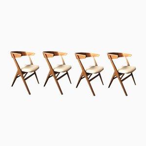 Esszimmerstühle von Helge Sibast, 1960er, 4er Set