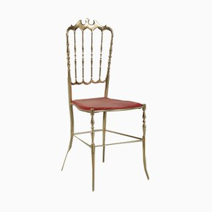 Italian Brass Side Chair from Chiavari, 1960s