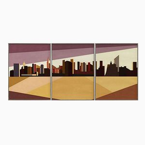 Triptych Serigraph by Franco Costa, 1980s