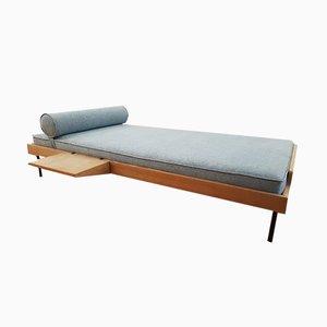 Sofá cama francés de haya maciza, años 50