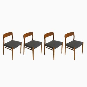 Teak Chairs by Niels Otto Møller for J.L. Møllers, Set of 4