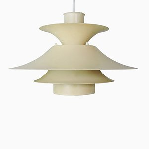 Danish Model Desiree Cream Pendant Light from Lyfa, 1970s