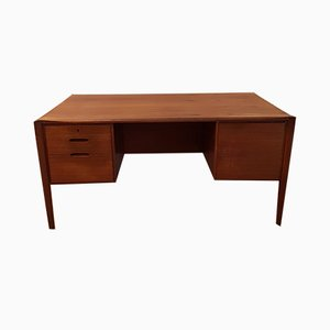 German Double-Sided Teak Desk by Wilhelm Renz, 1960s