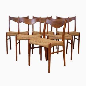 Sedie da pranzo vintage in teak di Arne Wahl Iversen per Glyngøre Stolefabrik, set di 6