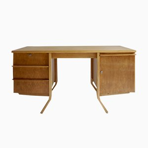 EB04 Birch Desk by Cees Braakman for Pastoe, 1950s