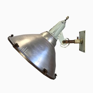 Large Vintage Industrial Aluminium Wall Spotlight, 1960s