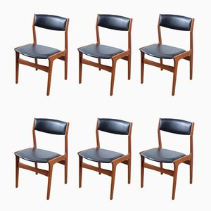 Mid-Century Danish Teak Dining Chairs from Nova, Set of 6