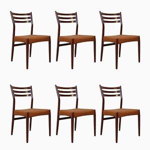 Vintage Esszimmerstühle von Svend Aage Madsen, 6er Set