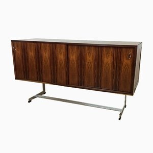 Rosewood & Chrome Sideboard by Richard Young for Merrow Associates, 1970s