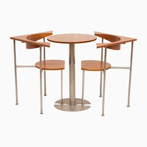 Mesa y 2 sillas de teca de Frans Schrofer para Lister Furniture, años 60