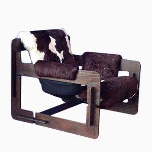 Fauteuil Rover Puzzle avec un Revêtement en Peau de Vache par Arne Jacobsen pour Asko, 1960s