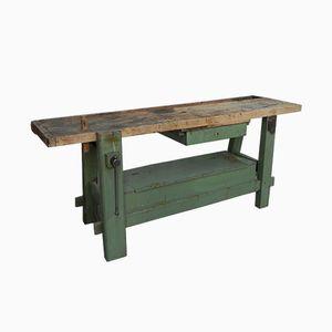Industrieller Mid-Century Werktisch aus Eiche