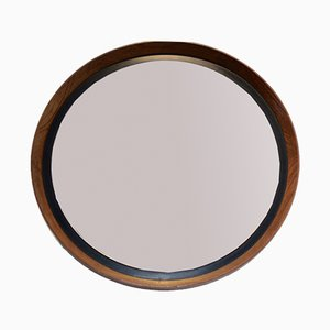 Mid-Century Teak Mirror by Uno & Östen Kristiansson for Luxus