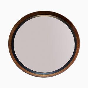 Mid-Century Teak Mirror by Uno & Östen Kristiansson for Luxus
