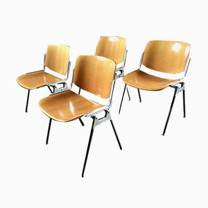 DSC Axis 106 Chairs by Giancarlo Piretti for Castelli, 1960s, Set of 4