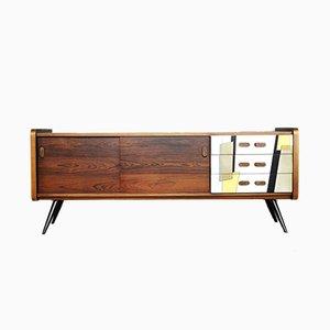 Mid-Century Modern Veneered Rosewood Sideboard, 1960s