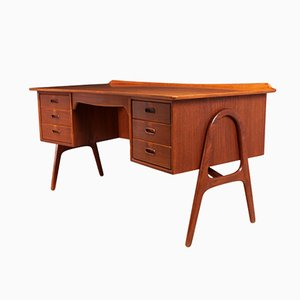 SH 180 Teak Desk by Svend Ågen Madsen for Sigurd Hansen, 1960s