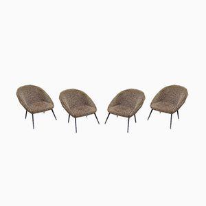 Ewa Lounge Chairs from Strzeleckie Zakłady Przemysłu Terenowego, 1970s, Set of 4
