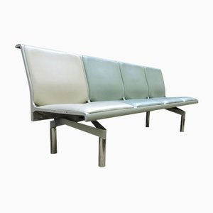 London Heathrow T1 Departures 4-Person Bench, 1960s