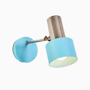 Blaue Vintage Wandlampe, 1970er
