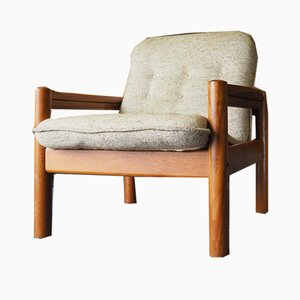 Small Danish Beige Teak Chair from Domino Mobler