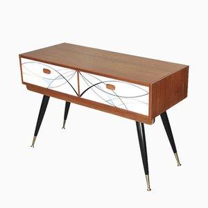 Consola escandinava Mid-Century Modern de chapa de teca, años 60