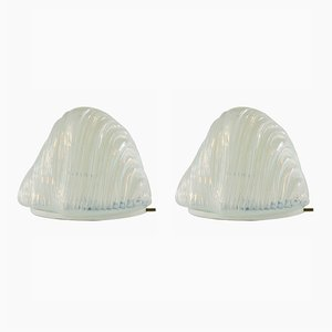 Iceberg Table lamps by Carlo Nason for Mazzega, 1960s, Set of 2