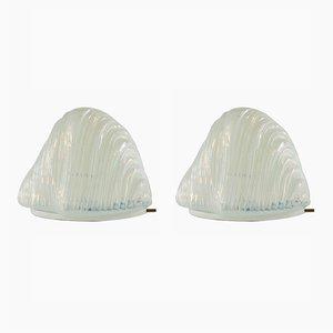 Lampes de Bureau Iceberg par Carlo Nason pour Mazzega, 1960s, Set de 2