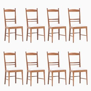 Oak Dining Chairs, 1947, Set of 8