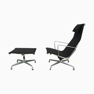 EA124 + EA125 Lounge Chair & Ottoman by Charles & Ray Eames for Herman Miller, 1970s