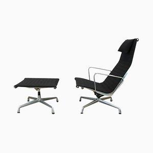 EA124 + EA125 Sessel & Fußhocker von Charles & Ray Eames für Herman Miller, 1970er