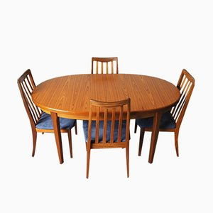Mid-Century Extending Dining Table & Four Chairs by Ib Kofod-Larsen for G-Plan