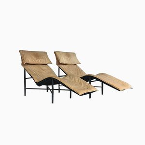 Mid-Century Skye Chaise Longues by Tord Björklund for Ikea, 1980s, Set of 2