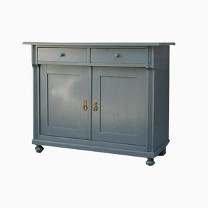 Softwood Blue-Grey Cabinet, 1900s